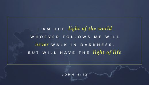 John 8:12, 1:6-8  I Am the Light of the World